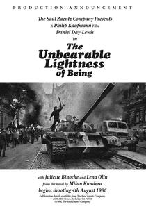 A Insustentável Leveza do Ser - Poster / Capa / Cartaz - Oficial 4