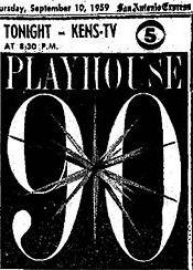Playhouse 90 (2ª Temporada) - Poster / Capa / Cartaz - Oficial 1