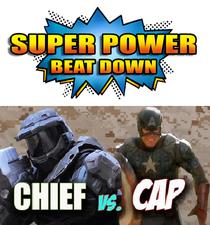 Capitão America vs. Master Chief - Poster / Capa / Cartaz - Oficial 1
