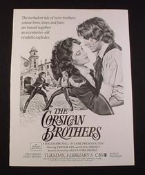 Os Irmãos Corsos - Poster / Capa / Cartaz - Oficial 1