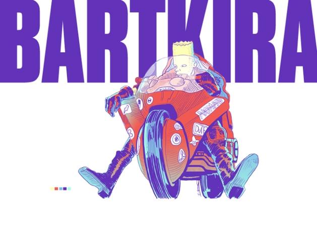 [IMAGENS] BARTKIRA recria AKIRA desenhado no estilo dos SIMPSONS