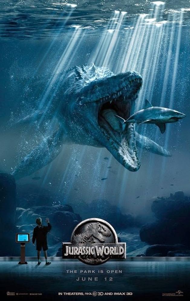 """Jurassic World"": Novo Pôster Subaquático"