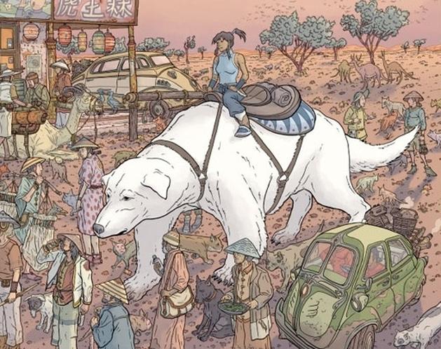 A Lenda de Korra: Geoff Darrow criou um quadro baseado na série, e você VAI querer comprá-lo!