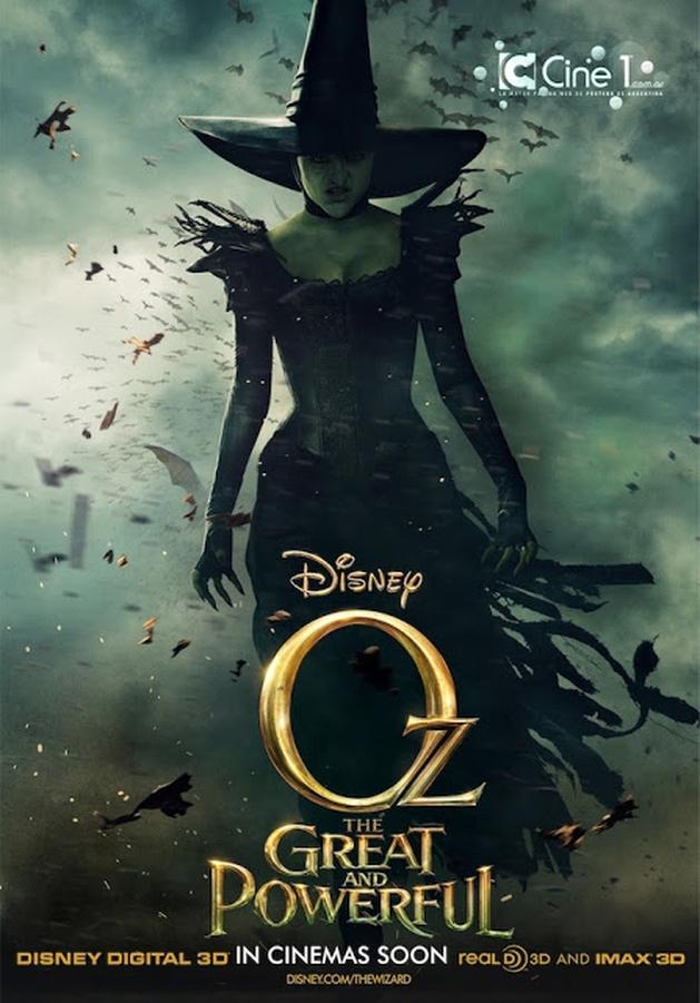 GARGALHANDO POR DENTRO: Notícia | Bruxa Má Estampa Novo Cartaz de Oz: Mágico e Poderoso