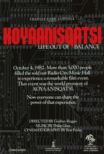 Koyaanisqatsi - Uma Vida Fora de Equilíbrio - Poster / Capa / Cartaz - Oficial 3