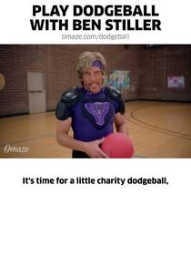Play Dodgeball with Ben Stiller - Poster / Capa / Cartaz - Oficial 1