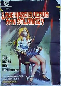 O Quê Vocês Fizeram com Solange? - Poster / Capa / Cartaz - Oficial 2
