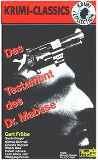 O Testamento do Dr. Mabuse - Poster / Capa / Cartaz - Oficial 1