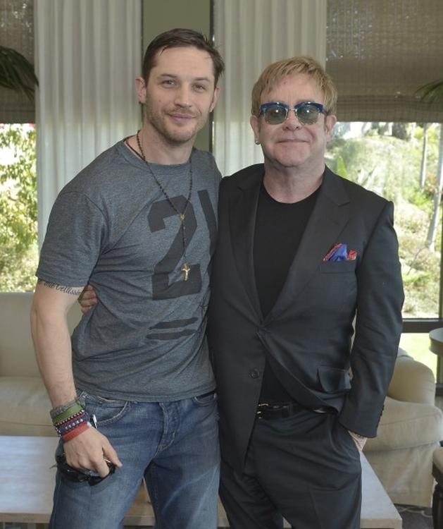 Rocketman   Elton John e Tom Hardy posam juntos