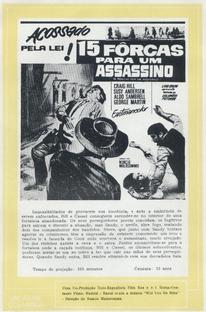 15 Forcas para um Assassino - Poster / Capa / Cartaz - Oficial 3