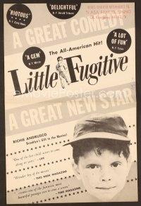 O Pequeno Fugitivo - Poster / Capa / Cartaz - Oficial 1