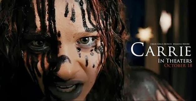Novo comercial de tv para Carrie, A Estranha