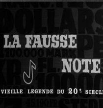 A Falsa Nota - Poster / Capa / Cartaz - Oficial 1