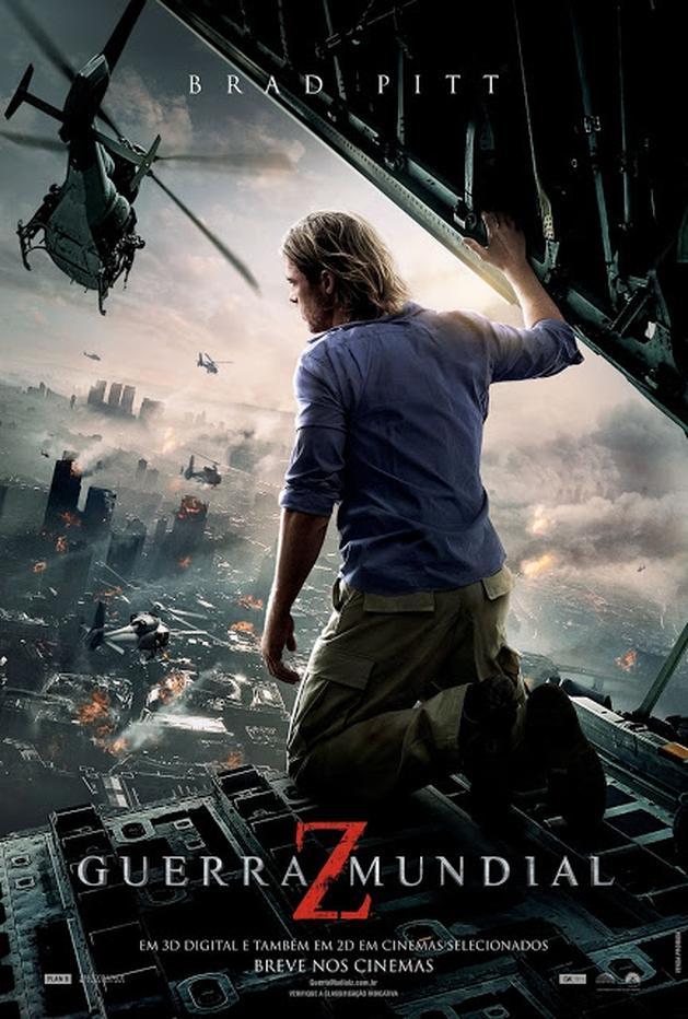 Perseguição e caos em clipes inéditos de GUERRA MUNDIAL Z, com Brad Pitt | LOUCOSPORFILMES.net