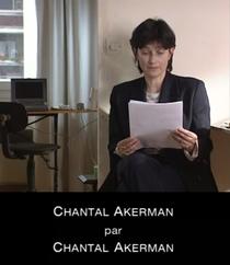 Chantal Akerman por Chantal Akerman - Poster / Capa / Cartaz - Oficial 1