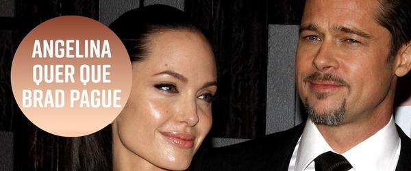 Angelina Jolie diz que Brad Pitt não pagou pensão para os filhos