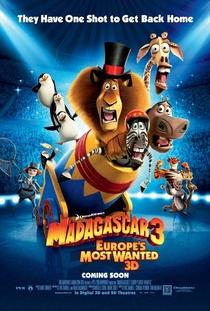 Madagascar 3: Os Procurados - Poster / Capa / Cartaz - Oficial 1