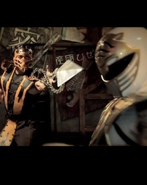 Power Ranger Branco vs. Scorpion - Poster / Capa / Cartaz - Oficial 1