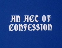 An Act of Confession - Poster / Capa / Cartaz - Oficial 1
