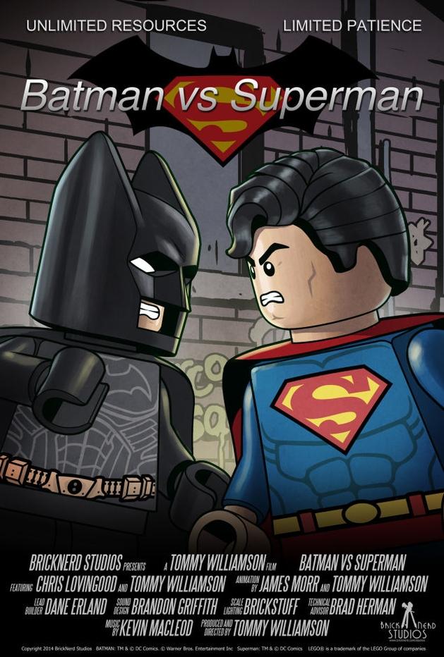 Batman e Superman: versões LEGO dos heróis se enfrentam num curta em stop-motion