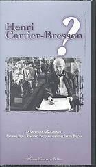 Henri Cartier-Bresson: ponto de interrogação - Poster / Capa / Cartaz - Oficial 1