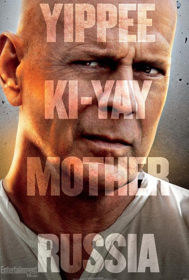 Bruce Willis em destaque no novo trailer e pôster de Duro de Matar 5!