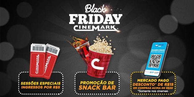 Black Friday na Cinemark oferece sessões a R$ 5 e descontos no snack bar