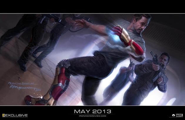 Marvel divulga a primeira arte conceitual de Homem de Ferro 3   Cine Marcado