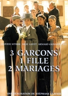 3 rapazes, 1 moça, 2 casamentos (3 garçons, 1 fille, 2 mariages)