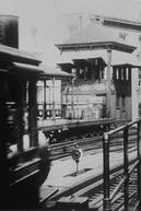 New York, arrivée d'un train à Bathery Place (New York, arrivée d'un train à Bathery Place)