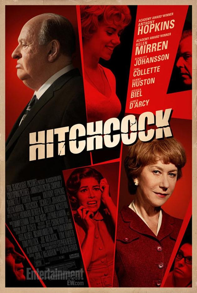 Anthony Hopkins, Helen Mirren e Scarlett Johansson em destaque no novo cartaz de Hitchcock.