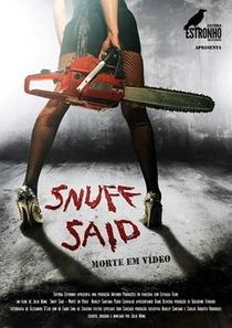 Snuff Said - Morte em vídeo  - Poster / Capa / Cartaz - Oficial 1