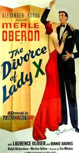 O Divórcio da Madame X - Poster / Capa / Cartaz - Oficial 1