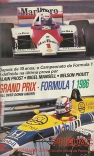Grand Prix - Formula 1, 1986 - Poster / Capa / Cartaz - Oficial 1