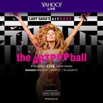 Lady Gaga - artRAVE Live in Paris Yahoo - Poster / Capa / Cartaz - Oficial 1
