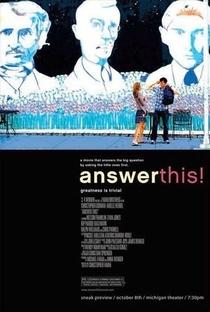 Responda Isto!  - Poster / Capa / Cartaz - Oficial 4
