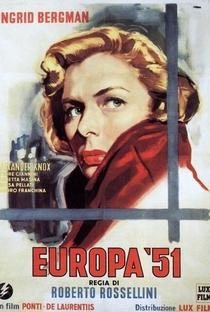 Europa '51 - Poster / Capa / Cartaz - Oficial 3