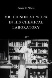 Thomas Edison trabalhando em seu laboratório de química - Poster / Capa / Cartaz - Oficial 1