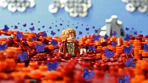 Hobbit: artista reproduz cenas da trilogia em LEGO