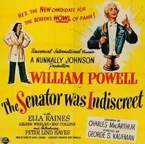 The Senator Was Indiscreet - Poster / Capa / Cartaz - Oficial 1
