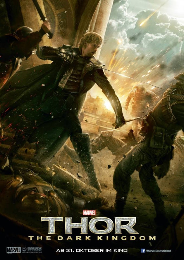 """Thor: O Mundo Sombrio"": poster de Fandral"