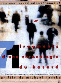 71 Fragmentos de uma Cronologia do Acaso - Poster / Capa / Cartaz - Oficial 2
