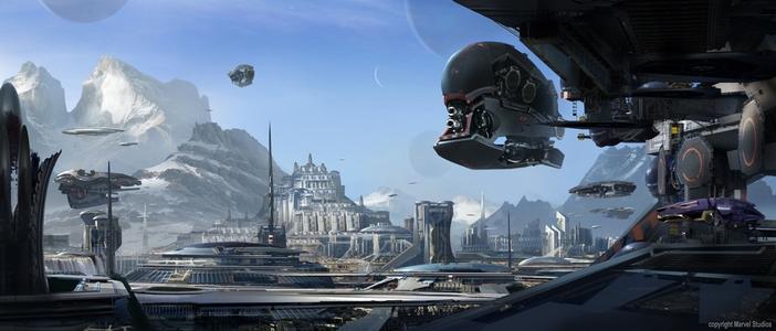 Guardiões da Galáxia: artes conceituais do filme