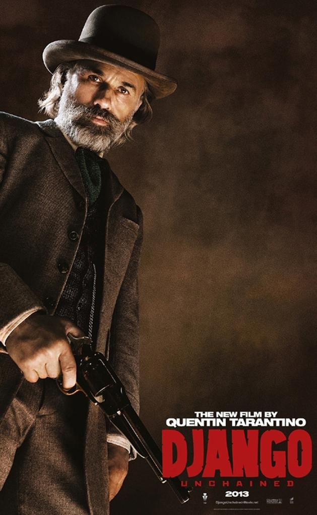 Christoph Waltz em destaque no novo cartaz de Django Livre!
