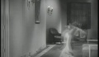 James Cagney shows Mae Clarke the door