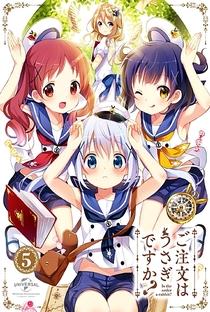 Gochuumon wa Usagi Desu ka? (1ª Temporada) - Poster / Capa / Cartaz - Oficial 6