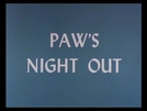 Noite de Farra (Paw's Night Out)