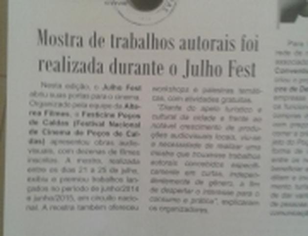 Resultado Festcine 2015 Premio: Menção Honrosa na categoria Melhor Atriz:: Cris Lopes, porA Última Cena