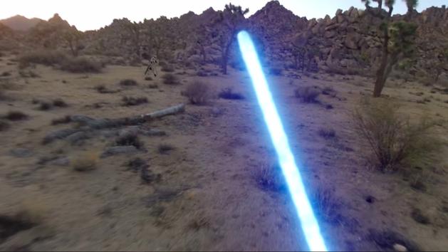 Um Jedi, uma GoPro e um vídeo fantástico
