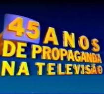 45 Anos de Propaganda da TV Brasileira  - Poster / Capa / Cartaz - Oficial 1